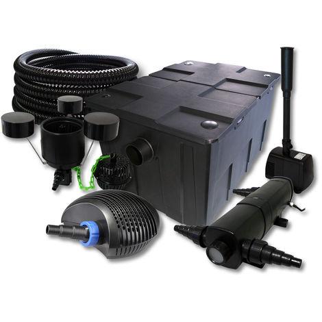 SUNSUN set filtro 60000l Estanque 18W clarificador 40W ECO Bomba 25m Manguera Skimmer fuente jadrdin