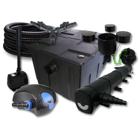 SUNSUN set filtro 60000l Estanque 72W clarificador 100W ECO Bomba 25m Manguera Skimmer fuente jardin
