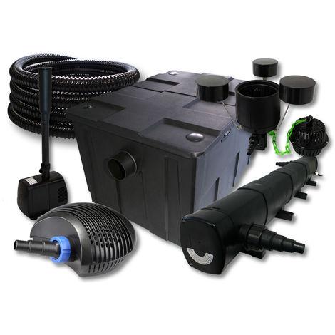 SUNSUN set filtro 60000l Estanque 72W clarificador 40W ECO Bomba 25m Manguera Skimmer fuente jardin