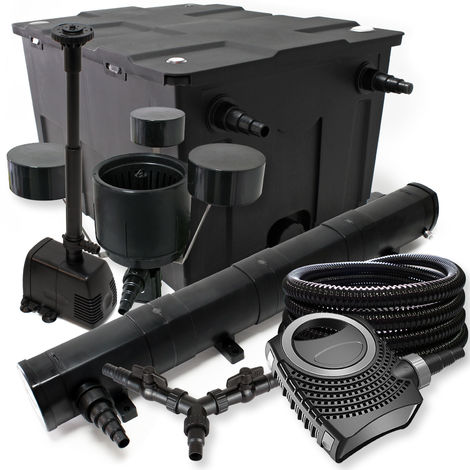 SUNSUN set filtro 60000l Estanque 72W clarificador neo800070W Bomba 25m Manguera Skimmer fuente