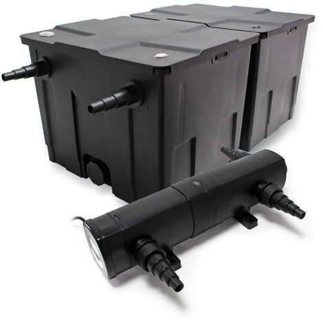 SunSun Set Filtro estanques CBF-350B hasta 60000l 24W clarificador UV CUV-224