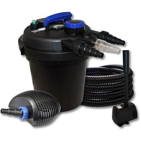 SunSun wiltec-Kit filtro estanque presión 6000l 11W UVC bomba 10W bajo consumo 25m diseño fuente