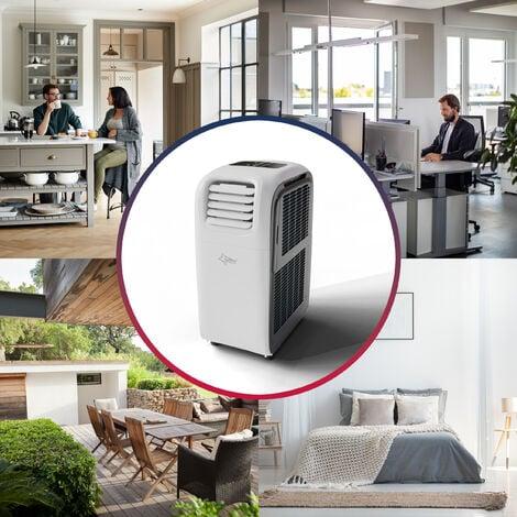 SUNTEC Climatiseur Mobile Reversible TRANSFORM 12.000 Eco R290, 6 en 1 : Refroidissement, Chauffage, ventilateur, Déshumidificateur (3,5 kW) ~130 m³/ 60 m² (12000 BTU)