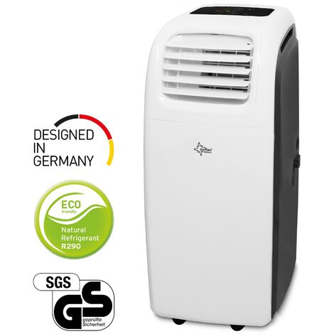 SUNTEC Climatiseur Mobile Reversible TRANSFORM 14000 Eco R290, 6 en 1 : Refroidissement, Chauffage, ventilateur, Déshumidificateur 14.000 BTU/h [Classe énergétique A]
