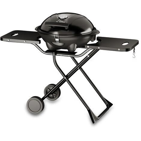 SUNTEC Grill sur pied electrique BBQ-9295 [Convient également comme Grill de table électrique à barbecue, avec étagère, thermostat réglable, max. 2400 W]