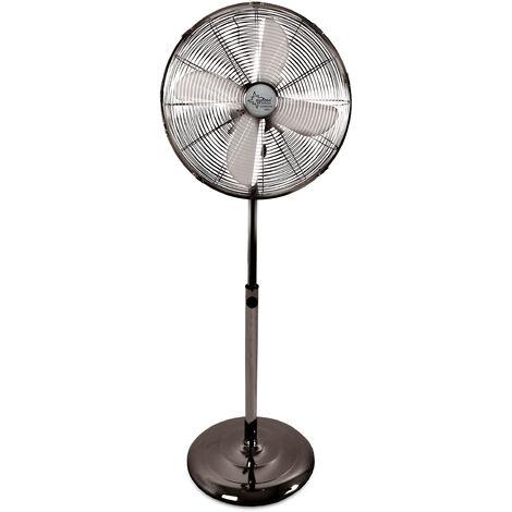Suntec Ventilateur sur Pied CoolBreeze 4000 SVM GUNMETAL GREY, Ø 40cm, 3 Vitesses, Oscillation, Réglable en Hauteur, puissance max. 50 W