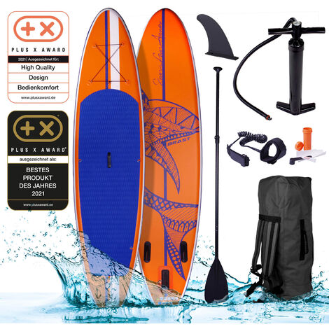 SUP Board aufblasbar SHARK 320 orange