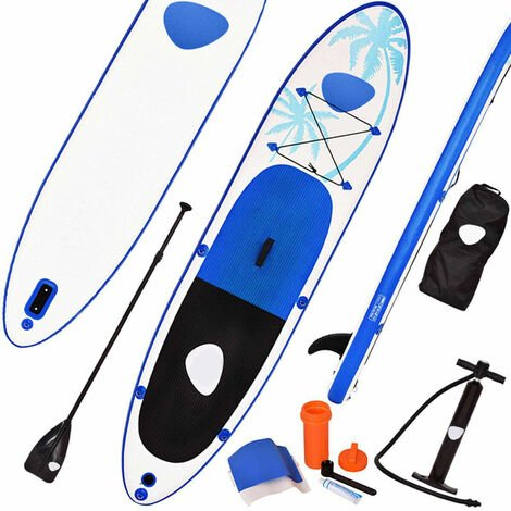 Sup Board Stand Up Inflatable Hinchable Tablas Paddle Board Tablero 330x76x15cm Blanco y Azul
