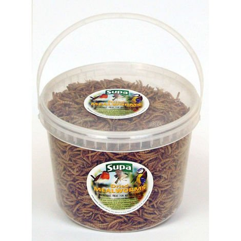 Supa Bucket Of Freeze Dried Mealworms For Birds (3L) (May Vary)