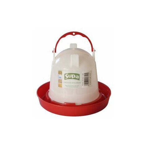 Supa Red and White Plastic Poultry Drinker 1,5L x 1 (4242)
