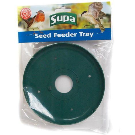 Supa Wild Bird Seed And Peanut Feeder Tray (One Size) (Green)