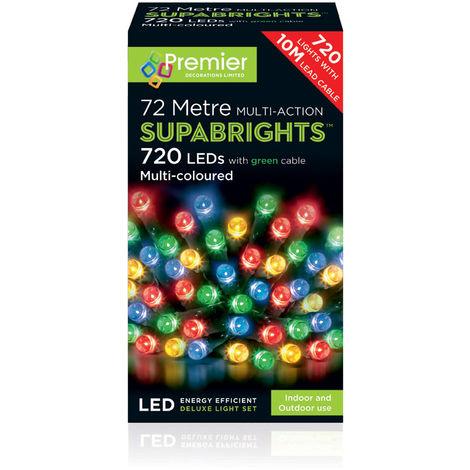 SUPABRIGHT 72M Multi Action 720 LED String Light - Multi Coloured