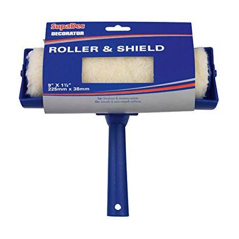 "SupaDec Decorator Roller & Shield 9"" X 1.5"" / 225MM X 38MM"