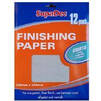SupaDec Finishing Paper 12 assorted sheets