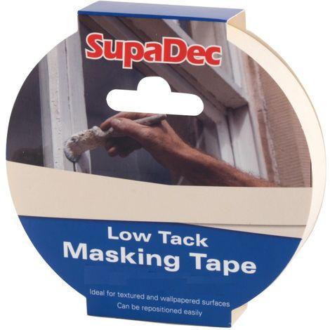 SupaDec Low Tack Masking Tape 50mm x 50mm / 25mm x 50mm / 38mm x 50mm