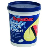 SupaDec Waterproof Fix and Grout for Ceramic Wall Tiles - 1kg