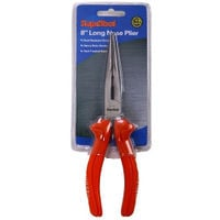 "Supatool Long Nose Plier 8""/200mm Rust Resistant Finish Heat Treated Steel"
