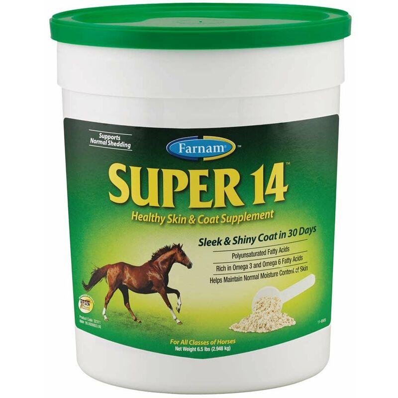 Farnam - SUPER 14 Supplément spécifique pour la santé de la peau et du pelage des chevaux 2,95 kg