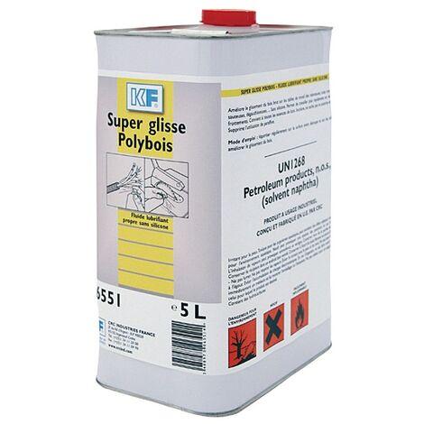Lubrifiant super glisse poly-bois, bidon de 5 litres