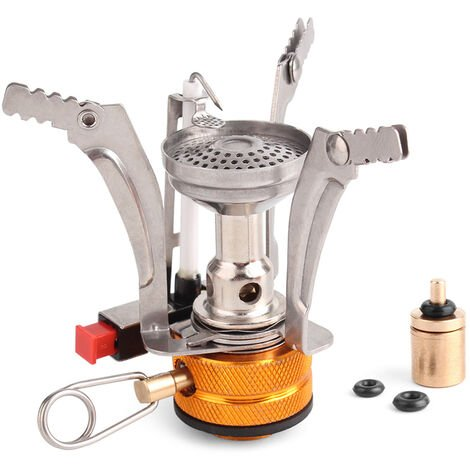 """main image of """"Super Lightweight Stove Outdoor Cooking Burner Folding Camping Gas Stove with Refill Adapter,model: 1"""""""