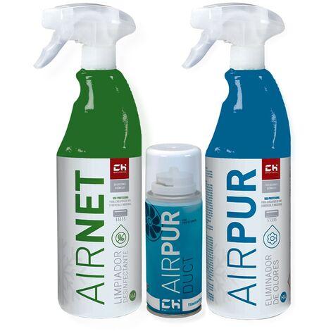 Super Pack AIRNET + AIRPUR + AIRDUCT limpia y elimina olores aire acondicionado