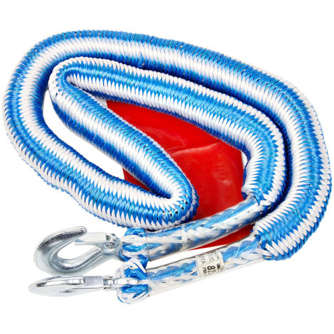 super robustes Abschleppseil 1500 kg elastisch 1,5 bis 4 Meter möglich Schnellverschluss