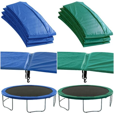 Premium Trampoline Replacement Safety Pad (Spring Cover)   Fits for 8 Feet Frames   Blue Colour Trampoline Padding for Maximum Safety