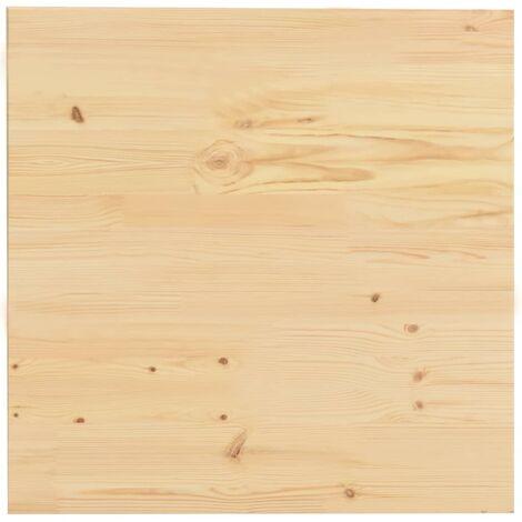 Superficie de mesa cuadrada madera maciza de pino 60x60x2,5 cm
