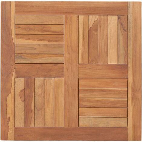 Superficie de mesa de madera maciza de teca 60x60x2,5 cm