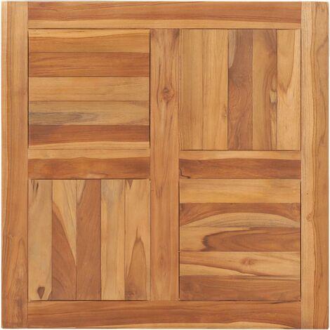 Superficie de mesa de madera maciza de teca 70x70x2,5 cm