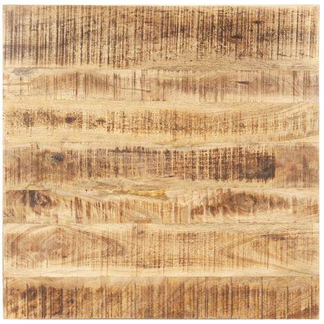 Superficie de mesa madera maciza de mango 15-16 mm 70x70 cm