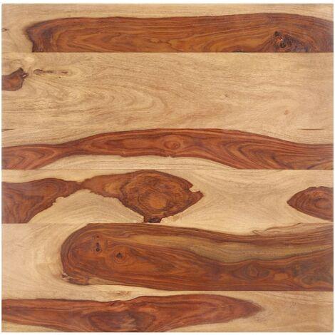 Superficie de mesa madera maciza de sheesham 15-16 mm 70x70 cm