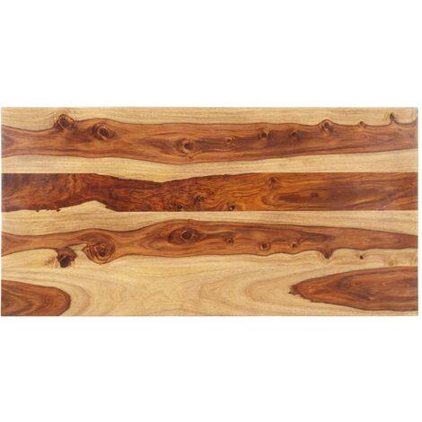 Superficie de mesa madera maciza de sheesham 25-27 mm 60x100 cm
