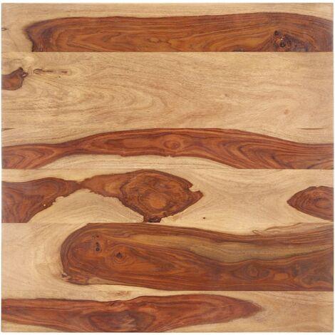 Superficie de mesa madera maciza de sheesham 25-27 mm 70x70 cm