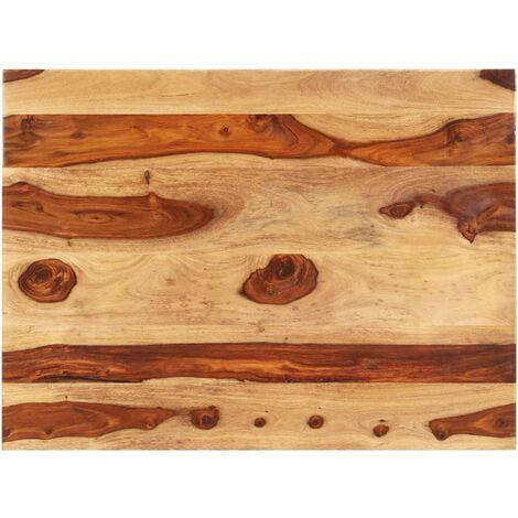 Superficie de mesa madera maciza de sheesham 25-27 mm 70x80 cm