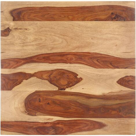 Superficie de mesa madera maciza de sheesham 25-27 mm 80x80 cm