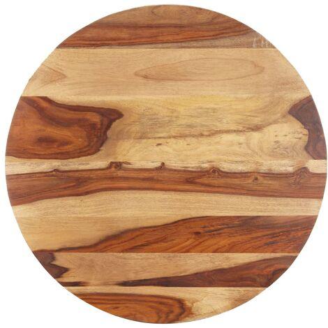 Superficie de mesa redonda madera maciza sheesham 25-27 mm 80cm