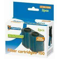SuperFish Aqua-Flow 100 Easy Click Cartridge (2Pk) x 1 (573038)