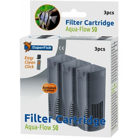 Superfish Aqua Flow 50 Easy Click Cassettes 3PCS