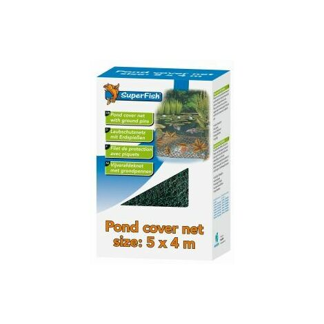 SuperFish Pond Cover Net With 14 Pegs 5x4m x 1 (669710)