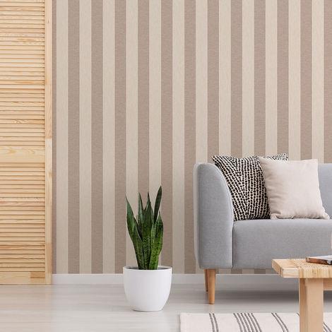 Superfresco Ariadne Beige/Champagne Striped Wallpaper