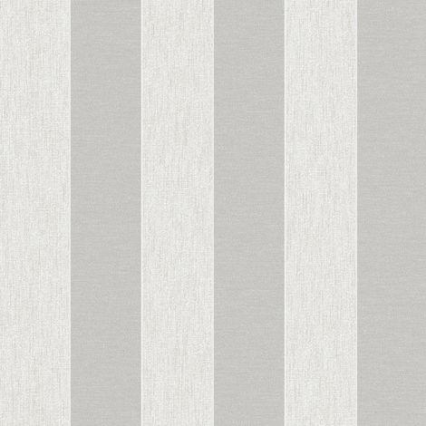 Superfresco Ariadne White/Silver Stripe Wallpaper