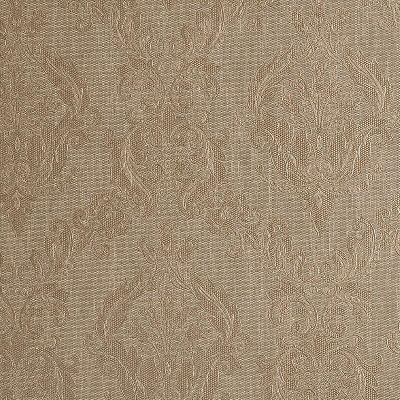 Graham&brown - Damask Golden Taupe Wallpaper Textured Embossed Graham Brown Classic