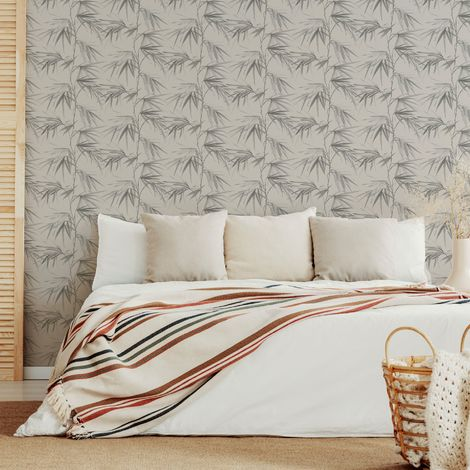Superfresco Easy Asia Light Grey Tropical Wallpaper
