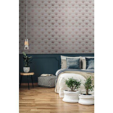 Superfresco Easy Beige Ecailles Gatsby Geometric Wallpaper
