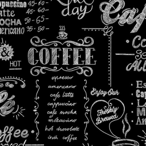 Superfresco Easy Black / White Coffee Shop Wallpaper