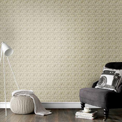 Superfresco Easy Cream Mand Basket Weave Wallpaper