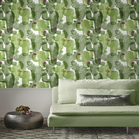 Superfresco Easy Green cactus Floral Wallpaper