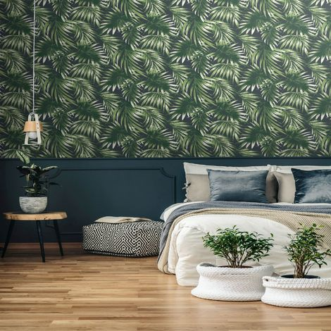 Superfresco Easy Green Elegant Leaves Tropical Trail Wallpaper