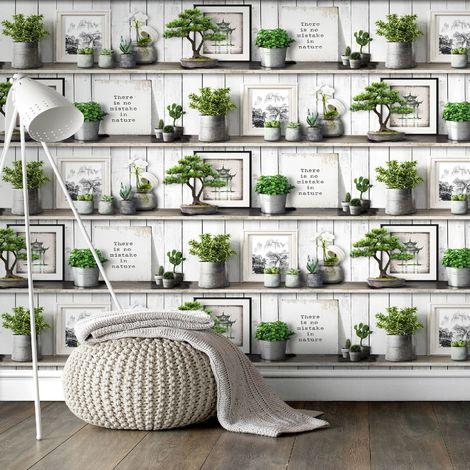Superfresco Easy Green Etagere Wallpaper
